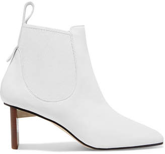 Loewe Blade Leather Ankle Boots - White