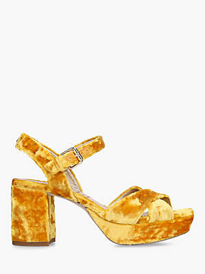 Sam Edelman Jolene Block Heel Sandals, Yellow Velvet