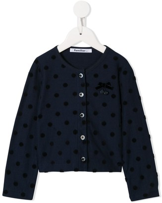 Familiar polka dot cardigan