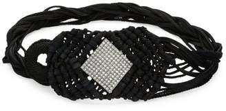 Saint Laurent Embellished Woven Belt