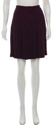 Prada Plissé - Accented Knee-Length Skirt Purple Plissé - Accented Knee-Length Skirt