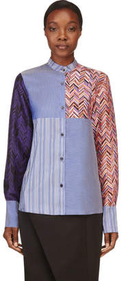 Roksanda BLue Silk Multi-Print Lorrimore Shirt