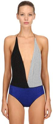 Lurex Backless One Piece Swimsuit