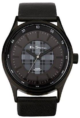 Ben Sherman (ベン シャーマン) - Ben Sherman bs030ブラックフェイクレザー腕時計