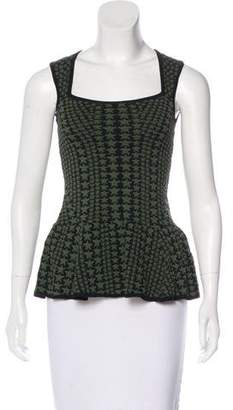 Torn By Ronny Kobo Patterned Sleeveless Top