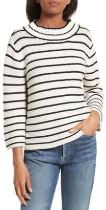 Women's La Vie Rebecca Taylor Stripe Cotton & Wool Pullover