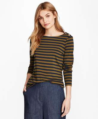 Striped Long-Sleeve T-Shirt $38 thestylecure.com