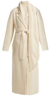 The Row Tooman Long Line Cashmere And Wool Blend Coat - Womens - Cream