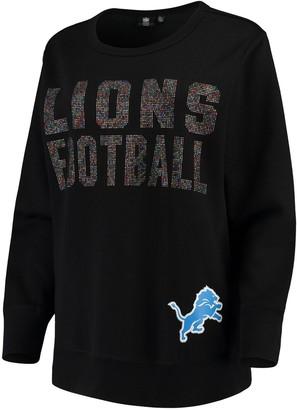 SuperStar G Iii Women's G-III 4Her by Carl Banks Black Detroit Lions Pullover Sweatshirt