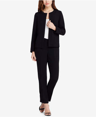 Tahari ASL Lace-Up-Back Pantsuit