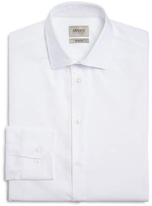 Armani Collezioni Micro Stripe Textured Classic Fit Dress Shirt