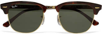 Ray-Ban Clubmaster Acetate And Gold-tone Sunglasses - Tortoiseshell