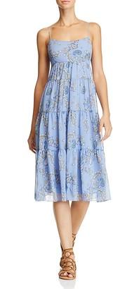 AQUA Paisley Tiered Midi Dress - 100% Exclusive $78 thestylecure.com