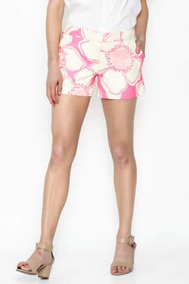 Julie Brown NYC Pink Hibiscus Shorts
