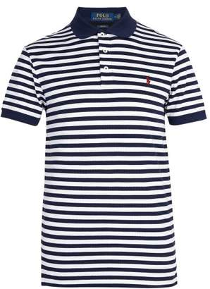 Polo Ralph Lauren Striped Stretch Cotton Pique Polo Shirt - Mens - Blue Multi