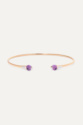 Pomellato 18-karat Rose Gold, Amethyst And Diamond Cuff