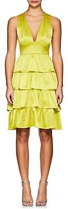 Cynthia Rowley Women's Ruffle Silk Sleeveless Dress - Chartreuse