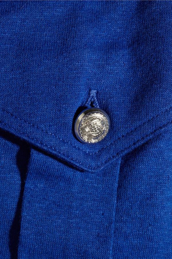 Balmain Cotton and linen-blend top