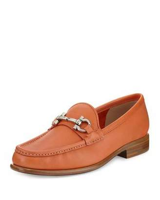 Salvatore Ferragamo Mason 3 Leather Gancini Loafer, Punch $550 thestylecure.com