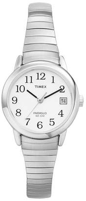 Timex Ladies Easy Reader White Dial With Expansion Band Watch T2h371