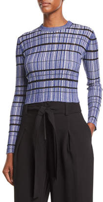 Proenza Schouler Long-Sleeve Striped Ribbed Sweater