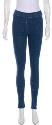 Avenue Montaigne Denim Mid-Rise Skinny Leggings