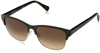 Cole Haan Women's Ch7010 Metal Clubmaster Oval Sunglasses