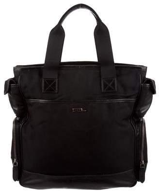Ralph Lauren Black Label Leather Trim Canvas Bag