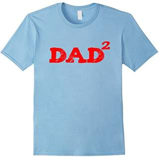 DAY Birger et Mikkelsen Dad Squared Funny Father's Newborn Twins T Shirt