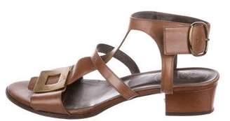 Roger Vivier Leather Ankle Strap Sandals