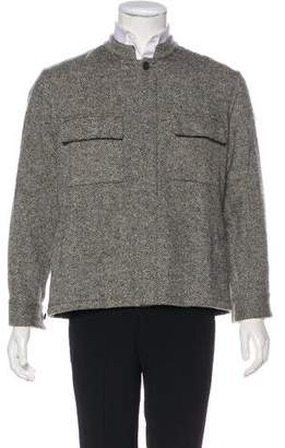Umit Benan Donegal Wool Shirt Jacket