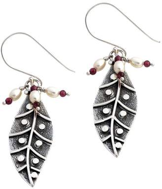 "Novica Artisan Crafted Sterling ""Dew Leaf"" Earrings"