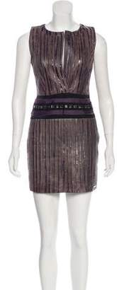 Elise Overland Leather Pleated Dress