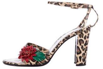 Dolce & Gabbana Leather Embellished Sandals