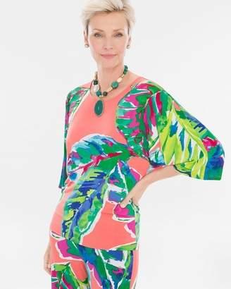 Tropical Kimono-Sleeve Top