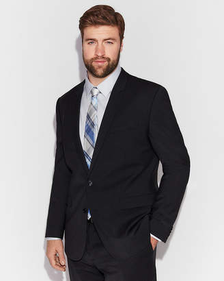 Express Extra Slim Performance Stretch Wool-Blend Check Suit Jacket