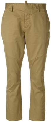 DSQUARED2 stretch twill cropped trousers