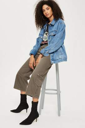 Topshop Utility Cropped Wide Leg Jeans