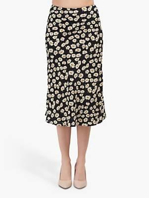 Rails London Daisy Print Skirt, Black