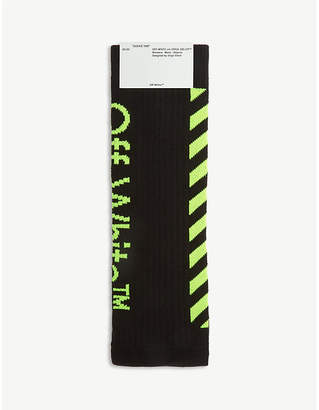 Off-White Diagonal stripe logo socks