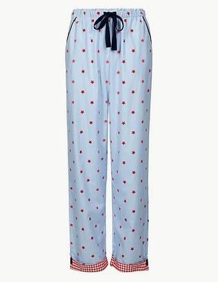 Marks and Spencer Pure Cotton Star Print Pyjama Bottoms