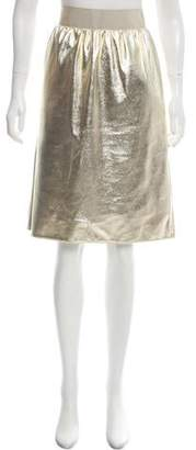 Dolce & Gabbana Metallic Pencil Skirt