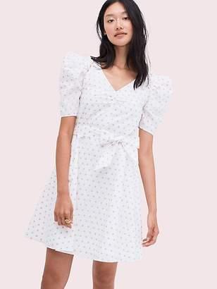 e655e6057fb0 Kate Spade Dot Cotton Mini Dress, French Cream/Dried Rose Petal - Size L