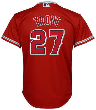 Majestic Kid Mike Trout Los Angeles Angels of Anaheim Replica Jersey, Big Boys (8-20)