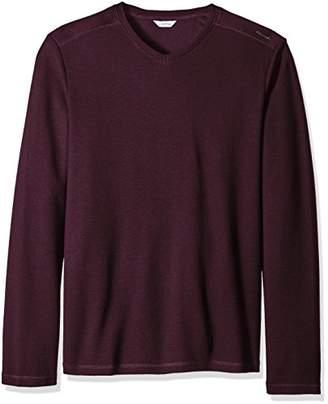 Calvin Klein Men's Long Sleeve Ribbed V-Neck T-Shirt