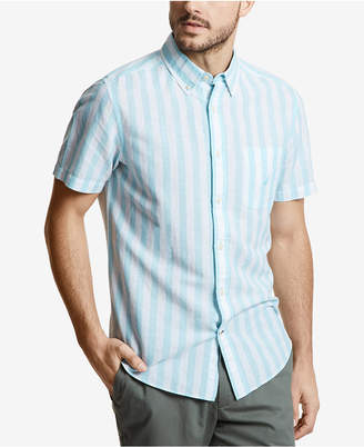 Nautica Men Linen Vertical Stripe Shirt