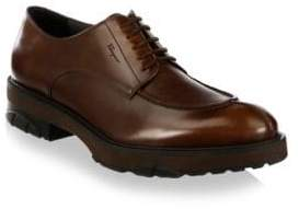 Salvatore Ferragamo Dalton Leather Derbys