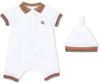 ac359c498ee Burberry Heritage Stripe Cotton Piqué Two-piece Baby Gift Set