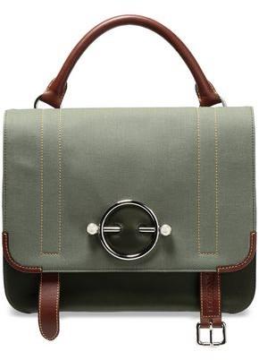 J.W.Anderson Twill-paneled Leather Shoulder Bag