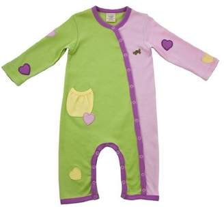 Green Nippers Apple Blossom Organic Baby Girl's Baby Grow 9-12 Months